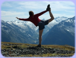 Yoga in the British Columbia mountains